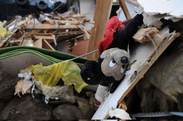 Mickey Mouse toy lies among debris and rubble in Ofunato Japan March 15 2011 four days after an 9.0 magnitude earthquake and tsunami devastated the area.,