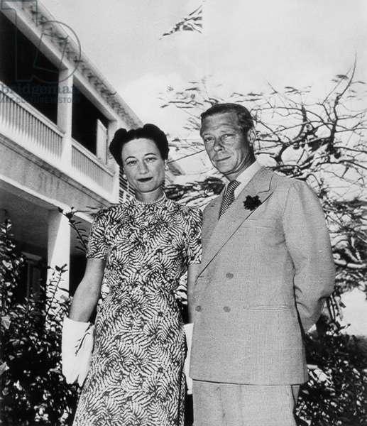 Duchess of Windsor Wallis Simpson and Prince Edward, Duke of Windsor, c.1940s