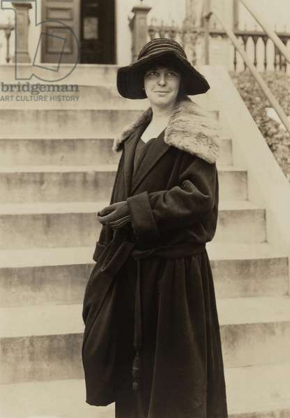 Suffrage activist and feminist Anita Pollitzer, c. 1916-23. She introduced her friend Georgia O'Keeffe to Alfred Stieglitz in 1916