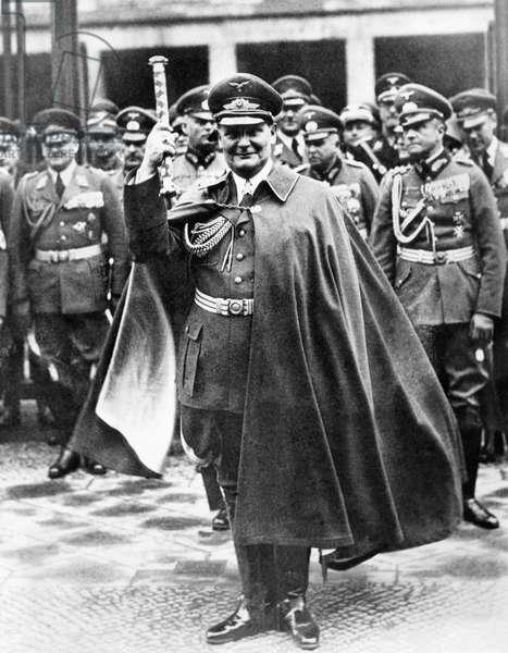 Commander-in-chief of the Luftwaffe Hermann Goering, Berlin, March 1938