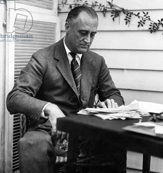 FDR Presidency. US President Franklin Delano Roosevelt, c.mid-1930s
