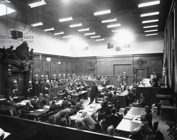 The Nuremberg trials. The Palace of Justice, c.1949