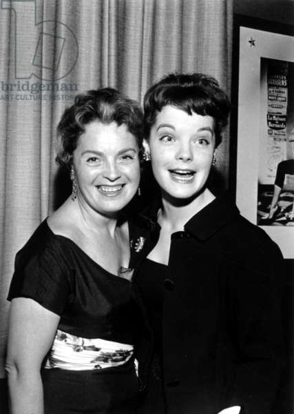 Romy Schneider with her mother Magda, 1958