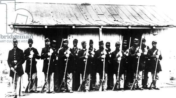 African-American soldiers of F.T. Corcoran's 107th Colored Infantry during the Civil War, 1861-1865