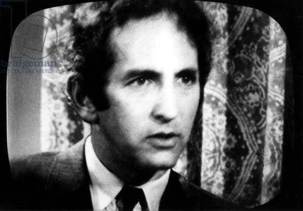 Pentagon Papers Defendant Daniel Ellsberg being interviewed on CBS Evening News. New York, NY, 06-23-71.