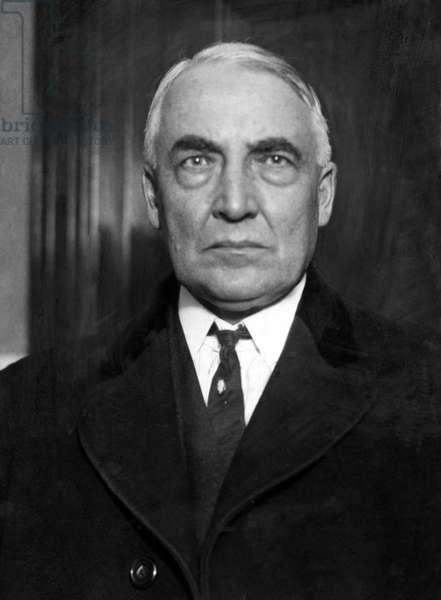 Warren G. Harding, 29th President of the United States. Photo dated 1921.