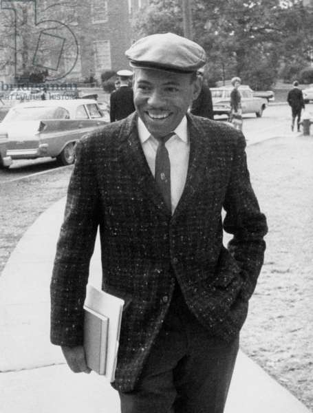 James Meredith, first African American ever enrolled at the University of Mississippi, Oxford, MS, November 03, 1962.