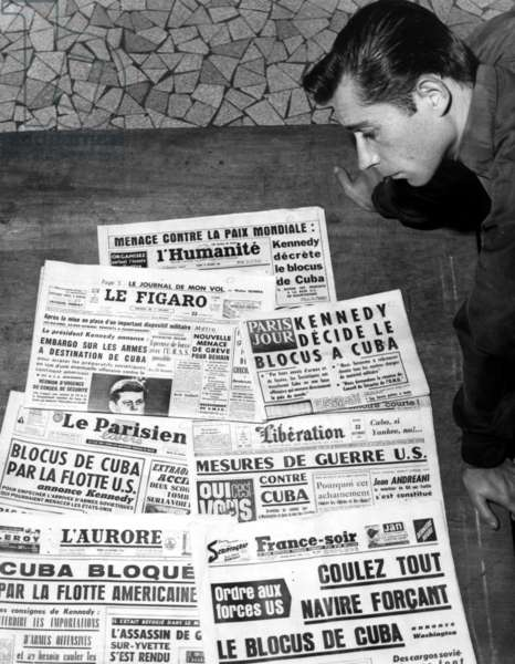 French newspapers at the time of the Cuban Missile Crisis, 1962