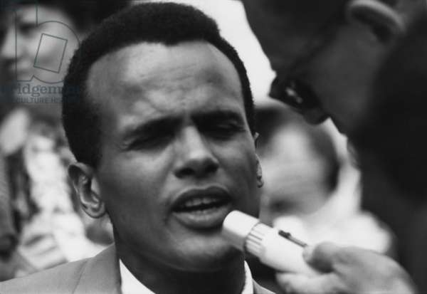 Actor and singer Harry Belafonte at the 1963 Civil Rights March on Washington. Aug. 28, 1963