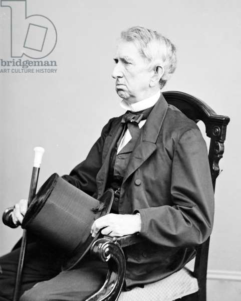 William H. Seward, Secretary of State under Abraham Lincoln. His purchase of Alaska from Russia was known as 'Seward's Folly' until gold was discovered in the Yukon. 1866