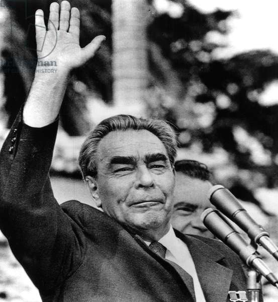 Leonid Brezhnev in California during a summit talk with President Richard Nixon, June 1973