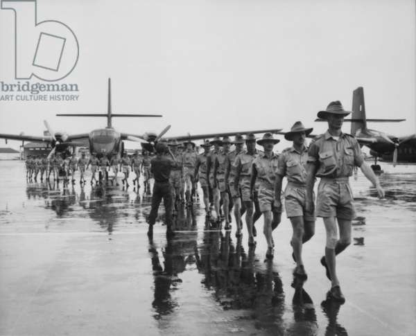 Royal Australian Air Force arrives at Tan Son Nhut Airport, Saigon, on Aug. 10, 1964. Over 60,000 Australia soldier fought in the Vietnam War from 1962 through the end of 1972