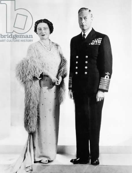 Queen Elizabeth, King George VI, London, c. 1949.