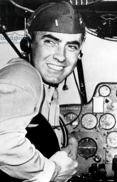 Marine Lieutentant Tyrone Power at the Naval Air Training Center in Corpus Christi, Texas, May, 1944
