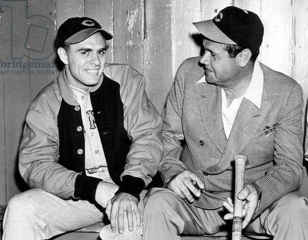 Johnny Vander Meer, Cincinnati Reds pitcher and Babe Ruth, June 15, 1938