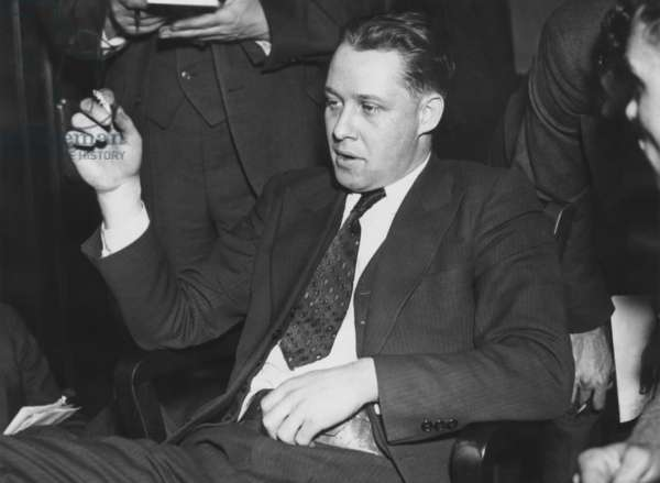 Ernest Blunk was kidnapped by John Dillinger during his escape from the Lake County jail. Crownpoint, Indiana, March 4, 1934. Blunk, a fingerprint expert at the Lake County Jail, was released unharmed in Kankakee, Illinois, an hour after the jailbreak