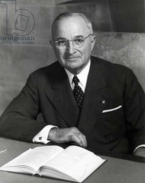 Harry Truman, President of U.S. in 1952.