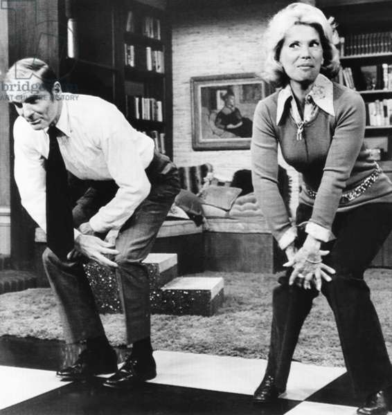 Senator William Proxmire does the Charleston with Dinah Shore on NBC-TVs 'Dinah's place'. Dec. 1, 1972. In his book, 'Last of the Big Time Spenders,' Proxmire discussed government waste, physical fitness, and his recent hair transplant