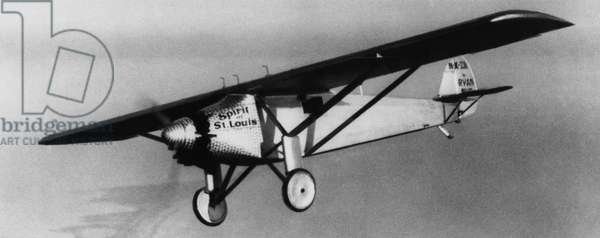 Charles Lindbergh flying his plane the 'Spirit of Saint Louis', c.late 1920s