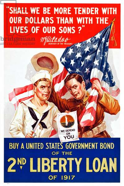 Buy a United States Government Bond of the 2nd Liberty Loan of 1917, 1917 (poster)
