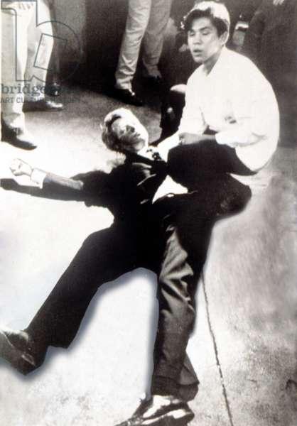 ROBERT KENNEDY, after being shot at the Ambassador Hotel, June 5, 1968