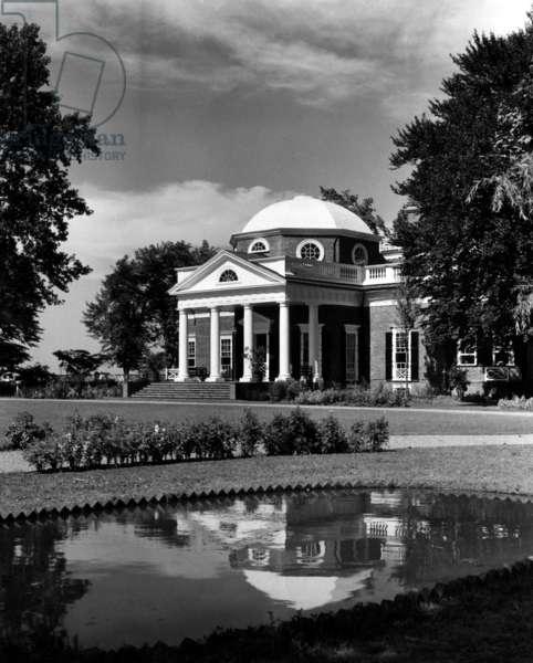 Monticello, home of Thomas Jefferson, c. 1960s.