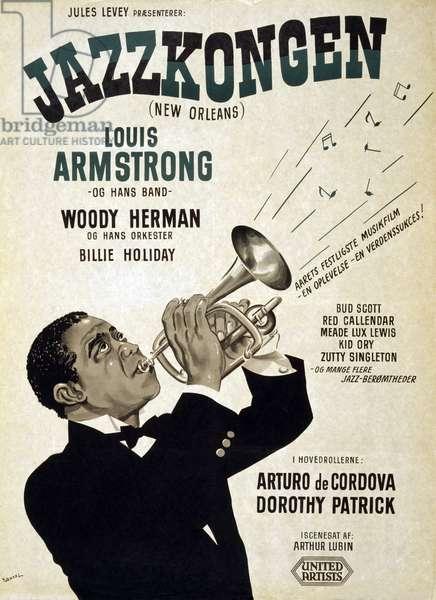 Jazzkongen New Orleans, 1947 (poster)