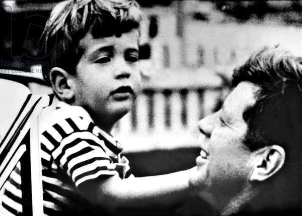 JOHN F. KENNEDY, JR. with father JOHN F. KENNEDY, 1963