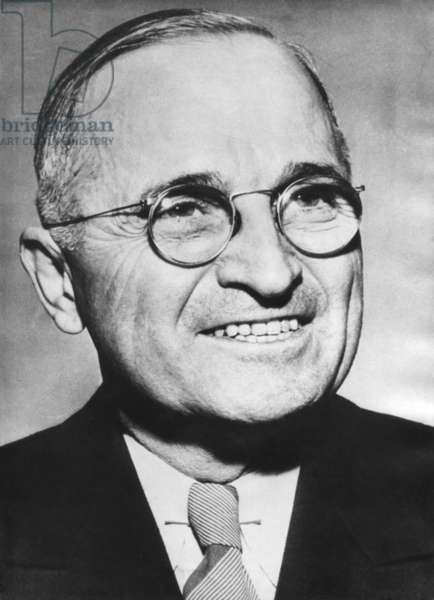 Portrait of Harry Truman around the time he was elected as FDR's Vice President. c. 1944.