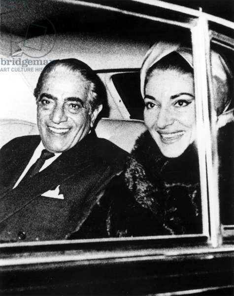 ARISTOTLE ONASSIS and MARIA CALLAS in the early 1960s