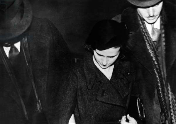 Mrs. George Gillis, wife of slain gangster known as Baby Face Nelson after being sentenced to a year and a day in prison for harboring John Dillinger and his gang. Dec. 7, 1934
