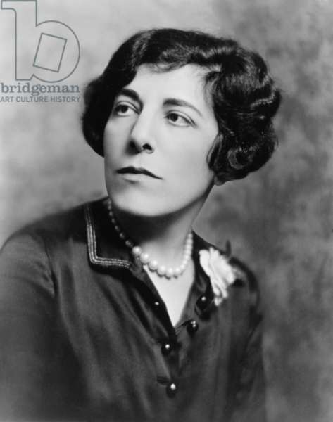 Edna Ferber (1887-1968) author of many novels later made into motion pictures including, SHOWBOAT (1926), GIANT (1952), and ICE PALACE (1856)