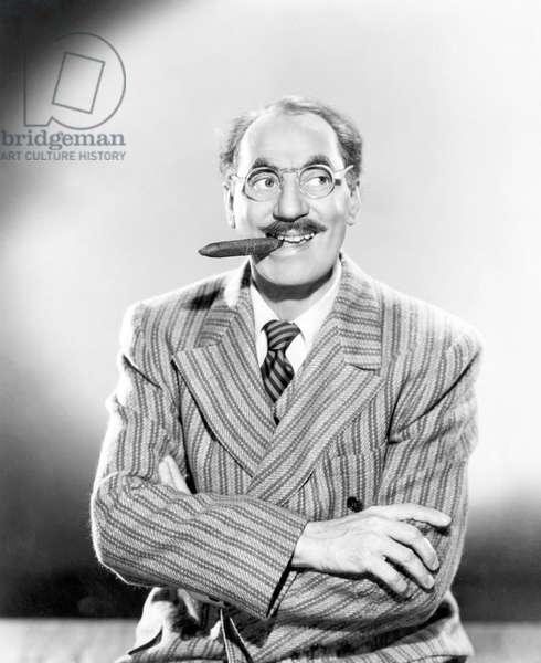 American comedian Groucho Marx, (1890-1977), c. 1949.