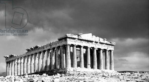THE PARTHENON, Athens, Greece, as pictured in 1963