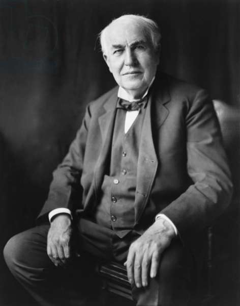 Thomas A. Edison (1847-1931), in Washington, D.C. in 1922 portrait by Bachrach