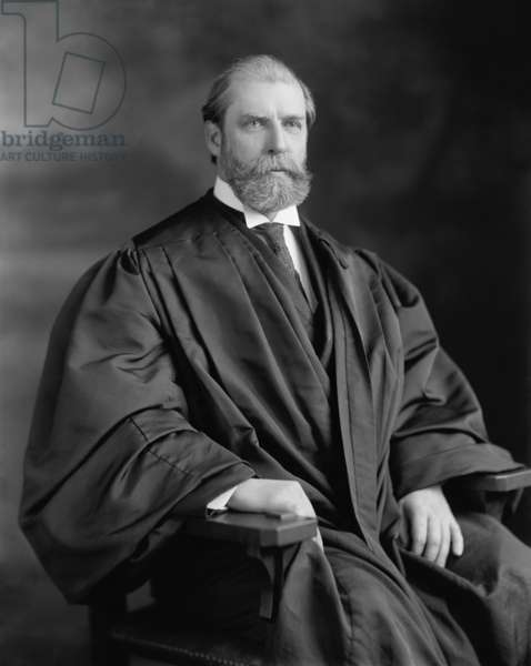 Charles Evans Hughes was Supreme Court Associate Justice, from 1910-16. He stepped down in 1916 to run unsuccessfully for President against Woodrow Wilson, but returned to the court as 11th Chief Justice of the United States in 1930