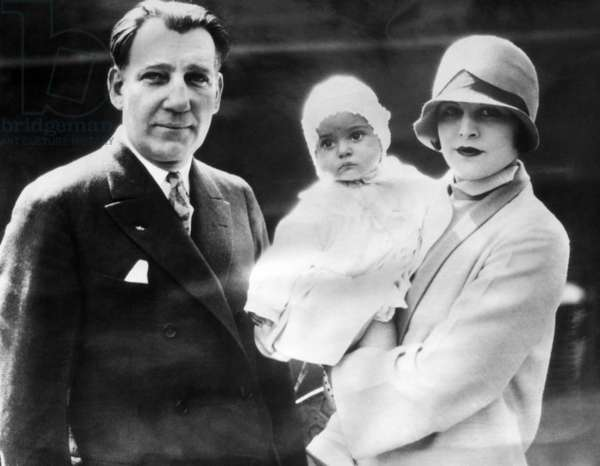Warner Brothers CEO Sam Warner, with his wife Lina Basquette Warner, and daughter Lita Basquette Warner, c. 1925.