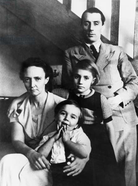 Irene and Frederic Joliot-Curie with their children, Helene and Pierre, Nov. 1935. The couple won the Nobel Prize in Chemistry for creating new radioactive substances to which do not exist in nature