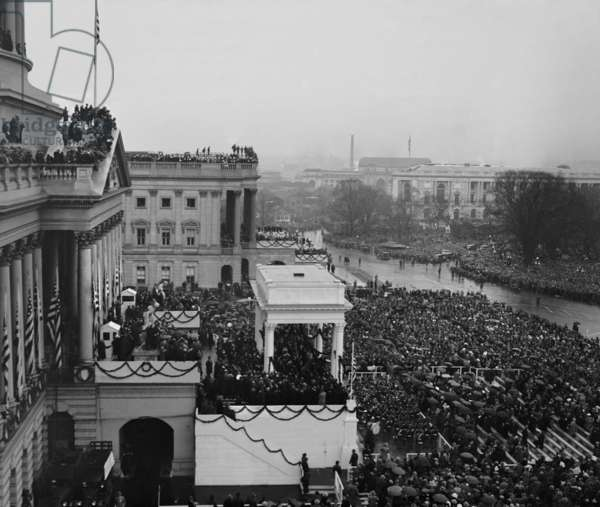 View of the Capitol and crowds at the Inauguration of Herbert Hoover, March 4, 1929