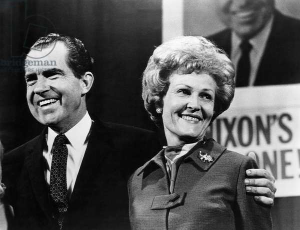 Nixon Presidency. US President-Elect Richard Nixon and First Lady-Elect Patricia Nixon, upon winning the Presidential Election, November, 1968