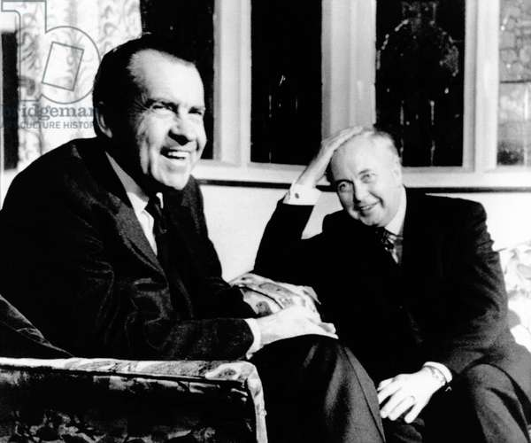 President Richard Nixon meets with British Prime Minister Harold Wilson, Feb. 24, 1969