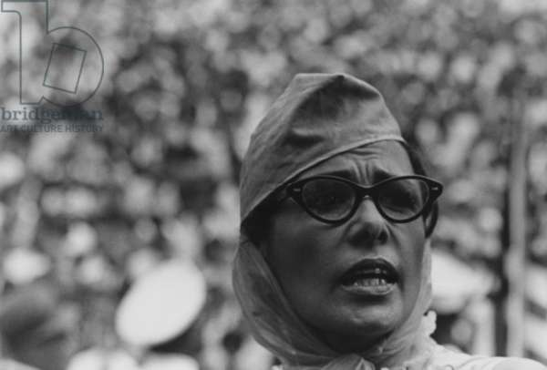 Actress Lena Horne at the 1963 Civil Rights March on Washington. Aug. 28, 1963