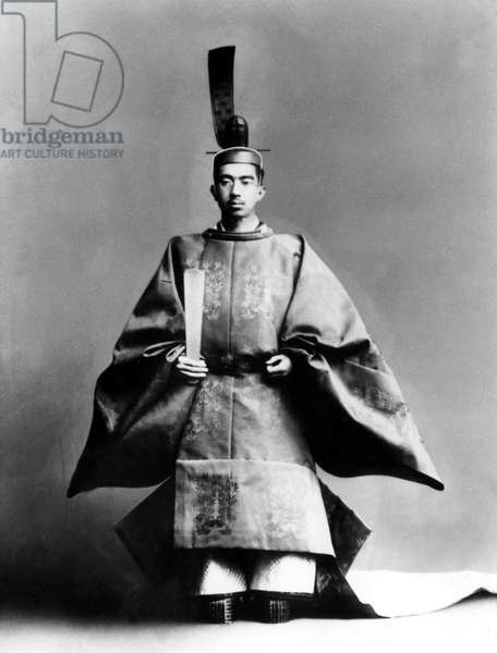 Emperor Hirohito dressed for his coronation ceremony in 1928.