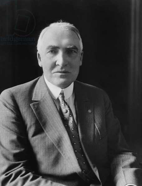 Warren Harding, 29th President of the United States. c. 1921-23
