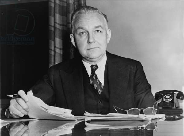 Byron Price (1891-1981), director of Censorship for the United States during World War II. 1941