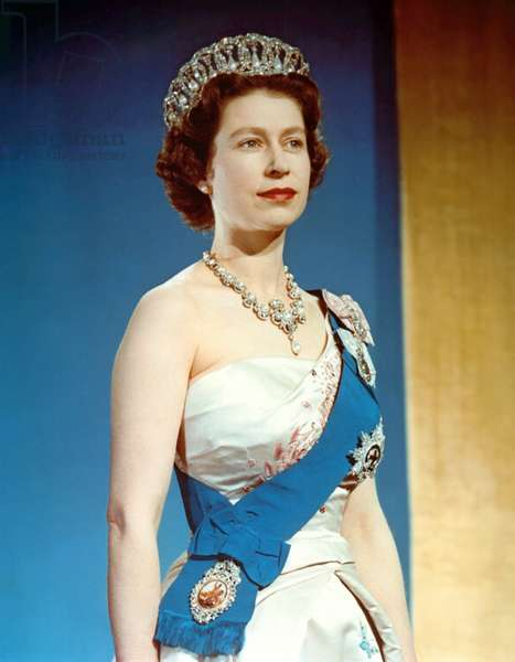 Queen Elizabeth II, coronation portrait, June 2, 1953