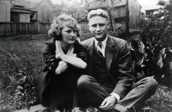 Zelda Fitgerald and F.Scott Fitzgerald, possibly in the 1930s.