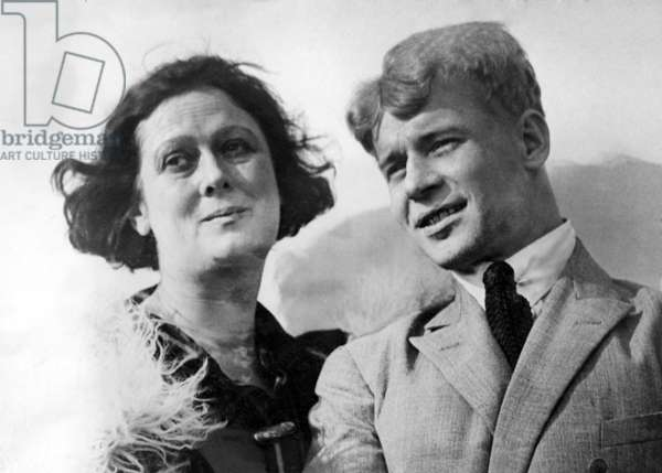 Isadora Duncan and husband Sergei Yesenin, 12/1925
