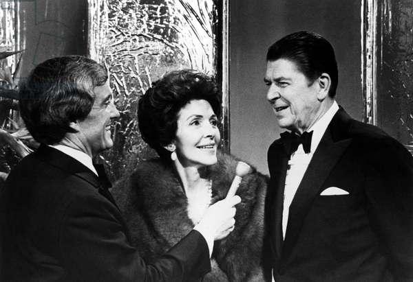 Merv Griffin interviews Nancy Reagan, Governor Ronald Reagan on MERV GRIFFIN SHOW in the 1970s
