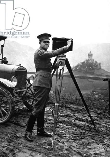 United States Army Signal Corps photographer in Cochem, Germany. World War I. Jan. 9, 1919